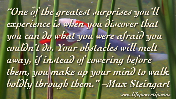 Image-Obstacles Will Melt Away