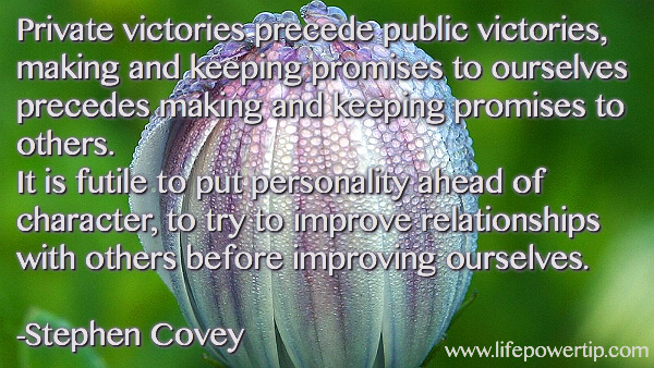 Image-Private Victories Over Self